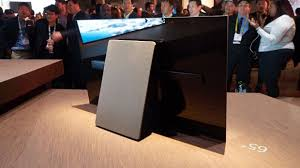 sony tv 2017. the oversized kickstand doubles as tv\u0027s subwoofer. sony tv 2017