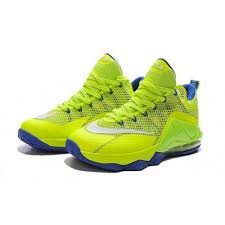 lebron shoes 12 green. nike lebron 12 low neon green blue basketball shoes