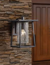 quoizel lodge outdoor wall lantern at lowe s canada find our selection of outdoor wall lighting at the t guaranteed with match off