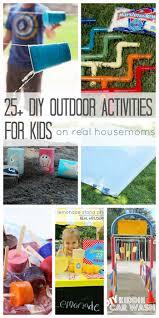 outdoor activities for kids. 25+ DIY Outdoor Activities For Kids | Real Housemoms