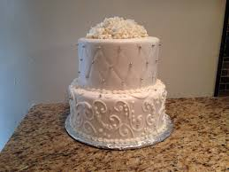 Small Fondant Wedding Cake with Quilted Pattern and Scroll Work ... & Small Fondant Wedding Cake with Quilted Pattern and Scroll Work Adamdwight.com