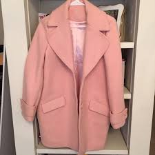 Pink Coat Rack Urban Outfitters Baby pinkblush wool coat from Bunnycat's closet 87