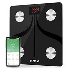 Amazon.com: RENPHO Bluetooth Body Fat Scale USB Rechargeable Smart ...