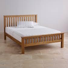 Oak Bedroom Original Rustic Double Bed In Solid Oak Oak Furniture Land