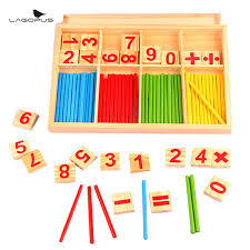 Wooden Math Games Montessori Math Toy Wooden Number Math Game Sticks Educational Toy 34