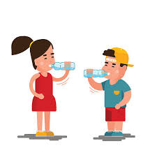 Children Drinking 11 Water Station Clipart »