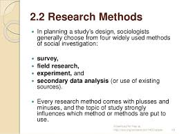 Sociological Research Chapter 2 Sociological Research