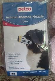 Petco Dog Collar Size Chart New Petco Size M Cow Print Muzzle Adjustable Nylon Washable Flexible Strong