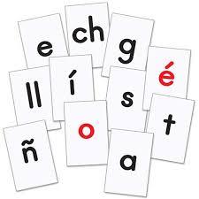 Chart Kit Really Good Stuff Make A Word Student Pocket Chart Kit Spanish Alphabet
