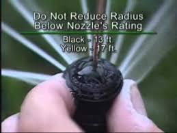 Rain Bird Rotary Nozzles Adjusting The Radius