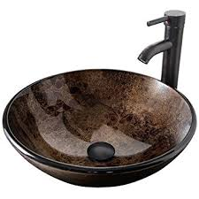 bathroom vessel sinks and faucets. elecwish bathroom vessel sink with faucet mounting ring and pop up drain 16.5 inch tempered glass sinks faucets