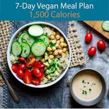 7 Day Vegan Meal Plan 1 500 Calories Eatingwell