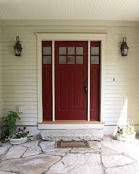 best paint for front doorburgundy or brick red is one of the best paint colours for a front
