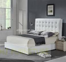 white colour genuine leather beditalian leather bed framemodern