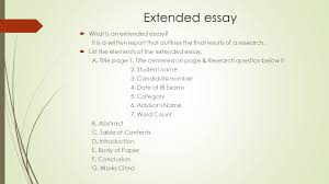 research methodology ii term review theoretical framework  what  extended essay  what is an extended essay