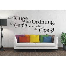Wandtattoo Spruch Kluge Ordnung Genie Chaos Sticker Wandsticker