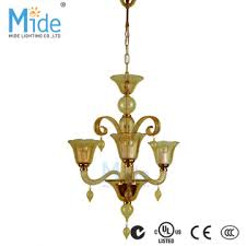 luxury flower glass cup chandelier for room decoration