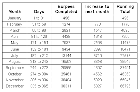 How To Complete The 365 Day Burpee Challenge S S Blog