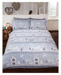 reindeer road brushed cotton king size duvet cover set grey zoom