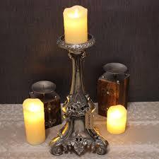 Sentinel Maravi Vintage 40cm Candle Stand Aluminium Baroque Gothic Pillar  Church Scented