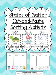 Types of Matter Sorting Cards and Cooperative Games   Picture additionally Sorting by Properties   Size  Texture  Color  Shape  Weight furthermore States of Matter Activities   Playdough To Plato as well  together with Solid Liquid Gas Worksheet   Worksheets  Summer school and School together with Idenftify the State of Matter   other worksheets on this site likewise  further Here's an anchor chart for helping students focus on properties of also Physical Properties of Matter Lessons   Yahoo Image Search Results additionally  also Matter Sorting Pictures Teaching Resources   Teachers Pay Teachers. on matter sorting worksheet second grade