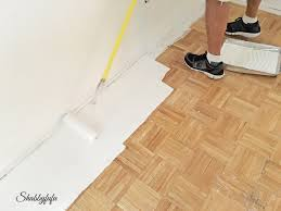 diy how to paint wood floors like a pro shabbyfufu com within floor remodel 2