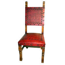 custom spanish style furniture. Spanish Heritage Red Chair - Plain With Nailheads Set Of 4 Custom Style Furniture