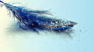 Glitter Wallpapers Blue Feather ...