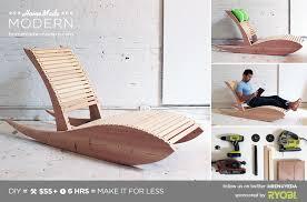 homemade modern diy lounge chair 1 0 postcard