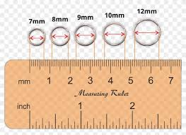 Actual Size Ring Size Chart Nose Ring Sizes Chart 9mm Hoop Earrings Actual Size Hd