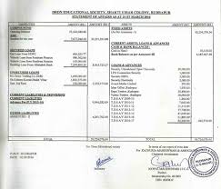 Balance Sheet Format Welcome To Droan Educational Society 10