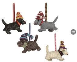 xmas-Tree-6.jpg. Tweed fabric dog ornaments