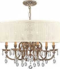 corrinne 6 light metal drum chandelier crystal clear upc 192264471389