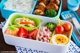 Chicken Meatball Bento on a table. 15 Back to School Easy Ideas \u0026 Recipes \u2022 Just One Cookbook