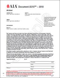 surety bond form home aia bond forms