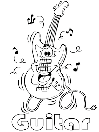 Musical Instruments Coloring Pages Musical Instruments Coloring