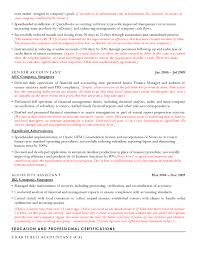 Chartered Accountant Resumes Accounting Resume Sample Cv Sample For Accountants