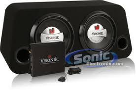 visonik vbs dual loaded sub box amplifier amp kit and visonik v210bs
