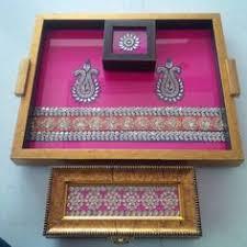 Saree Tray Decoration Saree box wedding Pinterest Saree Box and Trousseau packing 65