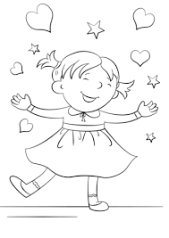 Small Picture Happy Girl coloring page Free Printable Coloring Pages