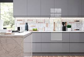 modern contemporary strada gloss light and dust grey kitchen elegant grey kitchen wall units