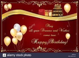 Elegant Birthday Card Also For Print Happy Birthday Elegant Stock