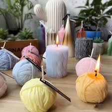 candle mould knitting wool cylinder silicone candle mold diy gypsum plaster mold knitting wool ball soap silicon molds soap molds q25929149