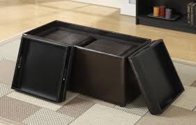 square large ottoman tray in black with storage for inspiring home