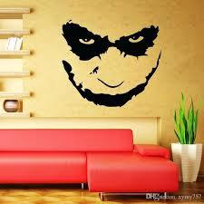 vinyl wall decal joker heath ledger wall decal art iconic vinyl wall decals stickers living room vinyl wall decal