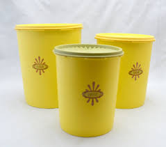 Target/household essentials/coffee canister sets (108). Vintage Tupperware Canister Set Harvest Gold Servalier Flour Etsy Vintage Tupperware Tupperware Canisters Tupperware