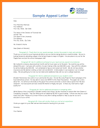 letter of appeal 9 appealing financial aid letter sample resume type