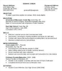 Free Printable Job Resume Templates Part Time Example Orlandomoving Co