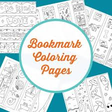 The reason is it carries multiple educational values. Adorable Bookmark Coloring Pages For Kids