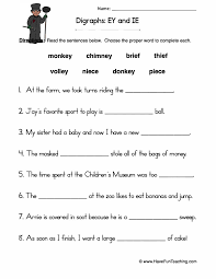 You got into work late, and now you're trying to thought shower fifteen or so medial ch words to use your phonics lesson. Ey Ie Digraphs Worksheet Have Fun Teaching